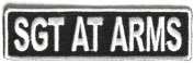 Sgt at Arms Patch 8.9cm White