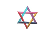 ID #8262 Hanukkah Star of David Judaism Embroidered Iron On Applique Patch