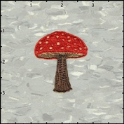 Mushroom Shroom Woodsy Embroidered Iron On Badge Applique Patch FD