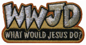 WWJD What Would Jesus Do Religious Iron On Patch