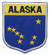 State Of Alaska AK Shield Flag Embroidered Applique Patch