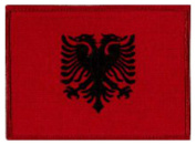 Albania Flag Embroidered Patch 12cm X 8.5cm