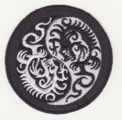 Om Mantra Nepal Symbol dragon Embroidered Iron on Patch L25