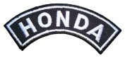 Honda Motorcycle Racing Vintage Bikes Motard White Curve Label Jackets BH14 Patches