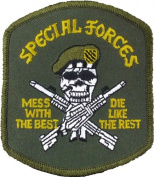 Olive Drab US Army Special Forces Mess With The Best Sew on Patch