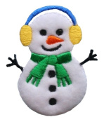 ID #8015 Snowman Christmas Xmas Holiday Iron On Applique Patch
