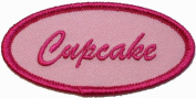 Cupcake Name Tag Embroidered Iron On Patch