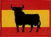 Spain Osbornes Bull Embroidered Patch 12cm x 9cm