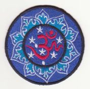 Om Mantra Nepal Symbol Embroidered Iron on Patch L14