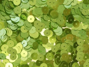 6mm FLAT SEQUINS Lime Loose sequins for embroidery, applique, knitting, arts, crafts, and embellishment.
