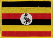 Uganda Embroidered Patch 12cm X 9cm