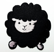 Cute Black Sheep Patches 7x7.5 Cm Cartoon Sew/iron on Patch to Cloth, Jacket, Jean, Cap, T-shirt and Etc.