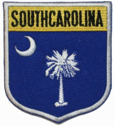 State Of South Carolina Shield Flag Embroidered Applique Patch