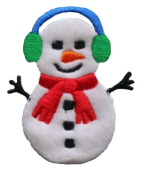 ID #8013 Snowman Christmas Xmas Holiday Iron On Applique Patch