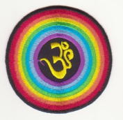 Om Mantra Nepal Symbol Embroidered Iron on Patch L24