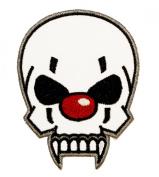 Clown Skull Iron On Biker Patch