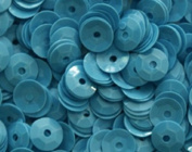 5mm CUP SEQUINS Neon Blue Loose sequins for embroidery, applique, arts, crafts, and embellishment.