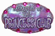 Member of The Princess Club Jewelled Little Girls Iron On Patch
