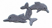 ID #0287 Dolphin Fish Embroidered Iron On Applique Patch