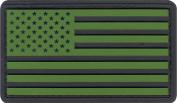 Olive Drab & Black US Flag PVC Hook Back Patch