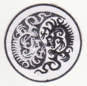 Om Mantra Nepal Dragon Symbol Embroidered Iron on Patch L26