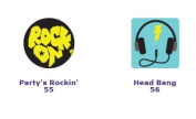 Gutzy Gear Party's Rockin' and Head Bang Patches
