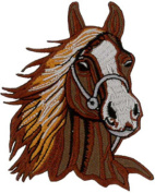 Horse (Chestnut) Embroidered Patch 8cm x 9.5cm