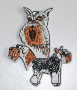 Schnauzer Dog Breed Embroidered Iron On Applique Patch
