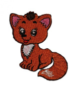 Cute Wolf Fox Coyote Jackal Cub Cartoon DIY Applique Embroidered Sew Iron on Patch
