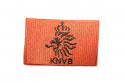 Netherlands Holland KNVB Orange Square Country Flag Embroidered Iron on Patch Crest Badge 5.1cm X 6.4cm .. New