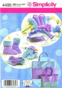 Simplicity 4495 Sewing Pattern Spa Accessories Mitts Boots