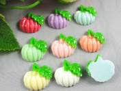 24pcs Resin Flatback Pumpkin the Scrapbooking DIY Craft Applique