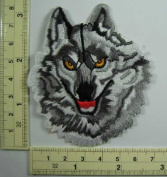 A9#Wolf Biker Motorcycle Appliques Hat Cap Polo Backpack Clothing Jacket Shirt DIY Embroidered Iron On / Sew On Patch