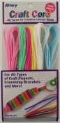 Allary Craft Cord, Assorted Colours, 36 Yards of Cord, Model #842