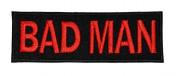 Bad Man Funny Biker DIY Applique Embroidered Sew Iron on Patch