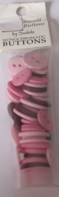 Bazzill Buttons Monocromatic Buttons Pink