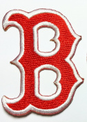 Boston Red Sox Patches 4.5x6 Cm Sew/iron on Patch to Cloth, Jacket, Jean, Cap, T-shirt and Etc.
