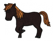 Cute Brown Horse Bronco Mustang DIY Applique Embroidered Sew Iron on Patch