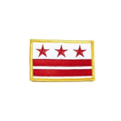 District of Columbia USA State Flag Iron on Patch Crest Badge .. 5.4cm X 8.3cm ... New
