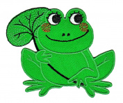 Frog Sew-on Iron-on Patches for Kids Children Baby Clothing Embroidered Applique
