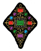Gold Ornament Ancient Design Luxurious DIY Applique Embroidered Sew Iron on Patch