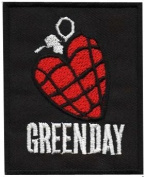 Green Day Patches 6.5x7.5 cm Music Band patches Embroidered iron/sew on Patch to Cloth, Jacket, Jean, Cap, T-shirt and Etc.