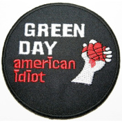 Green Day Patches 7.5x7.5 cm Music Band patches Embroidered iron/sew on Patch to Cloth, Jacket, Jean, Cap, T-shirt and Etc.