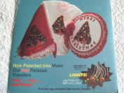 OLD FASHIONED CHRISTMAS IRON-ON TRANSFERS - FLASH N' ABLE #T81109 20cm X 25cm - CAN BE USED WITH LIGHTS