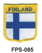 5.1cm - 1.3cm X 2-3/4 Flag Embroidered Shield Patch Finland