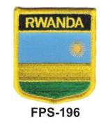5.1cm - 1.3cm X 2-3/4 Flag Embroidered Shield Patch Rwanda