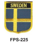 5.1cm - 1.3cm X 2-3/4 Flag Embroidered Shield Sweden