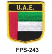5.1cm - 1.3cm X 2-3/4 Flag Embroidered Shield U.a.e