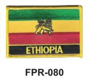 5.1cm - 1.3cm X 7.6cm - 1.3cm Flag Embroidered Patch Ethiopia