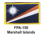 5.1cm - 1.3cm X 7.6cm - 1.3cm Flag Embroidered Patch Marshall Islands